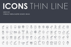 Medicine Thin Line Icons Royalty Free Stock Photo