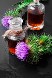 Medicine from the Thistle Stock Photo