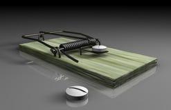 Medicine trap. Prescription drug coverage trap in healthcare debate Stock Photography