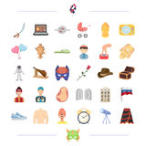 Medicine, travel and other web icon in cartoon style.holiday, profession icons in set collection. Stock Image