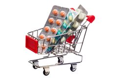 Medicine in trolley Stock Images