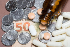 Medicine value Stock Image
