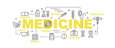 Medicine vector banner Royalty Free Stock Images