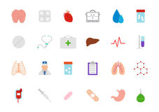 Medicine vector icons set. Set of 24 Medicine vector icons Stock Photography