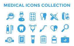 Medicine vector icons set. Doctors tools for Royalty Free Stock Photography