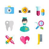 Medicine vector icons set. Doctors tools for Stock Photo