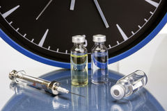 Medicine vials and syringe Royalty Free Stock Image