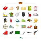Medicine, weapons, sports and other web icon in cartoon style.education, travel, Olympics icons in set collection. Stock Photography