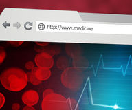 Medicine Web Browser Royalty Free Stock Photos