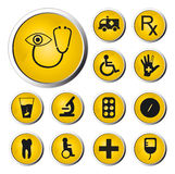 Medicine web button. Computer generated image Royalty Free Stock Image