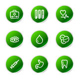 Medicine web icons Royalty Free Stock Photos