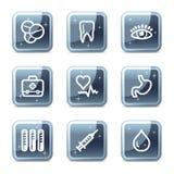 Medicine web icons Stock Image