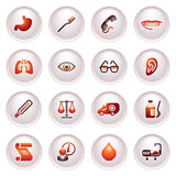Medicine web icons. Black red series. Stock Image