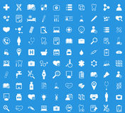 Medicine white icon set Royalty Free Stock Photos