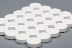 Medicine white pills Stock Photos