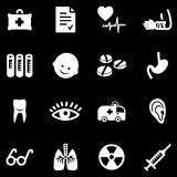 Medicine white web icons Stock Photo