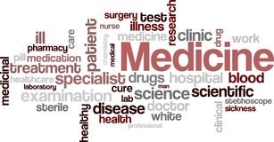 Medicine wordcloud Stock Photography