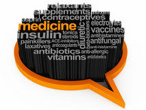 Medicine words Stock Images