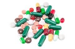 Mediciner och preventivpillerar arkivfoto