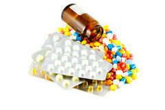 Medicines. A lot of pills and medicines Stock Photo