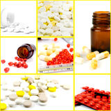 Medicines. Collection of medicines from seven photos Royalty Free Stock Image