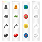 Medicines, attributes, tourism and other web icon in different style.first, aid, kit, bag icons in set collection. Medicines, attributes, tourism and other Stock Photography