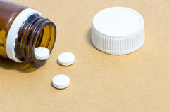 Medicines in a bottle with Syringe, medical injection Royalty Free Stock Photography