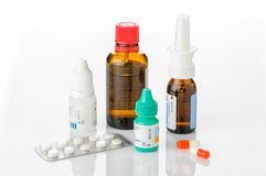 Medicines for colds. And allergies stock photography