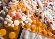 Medicines collection - Pills Royalty Free Stock Image
