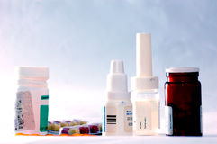 Medicines and drugs Royalty Free Stock Images