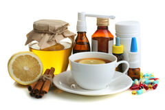 Medicines and folk treatments Stock Photography