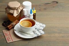 Medicines and folk treatments Stock Photos