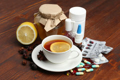 Medicines and folk treatments Stock Photography
