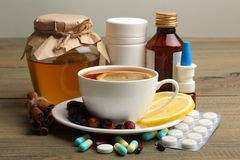 Medicines and folk treatments Royalty Free Stock Image
