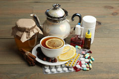 Medicines and folk treatments Stock Images