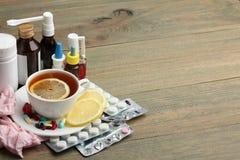 Medicines and folk treatments Royalty Free Stock Photo