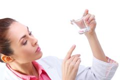 Medicines in hand of doctor Stock Images