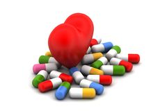 Medicines with heart Royalty Free Stock Photo