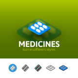 Medicines icon in different style Royalty Free Stock Photo