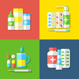Medicines, isolated objects. Royalty Free Stock Photography