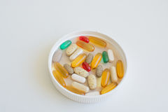 Medicines and nutritional supplements Royalty Free Stock Photo
