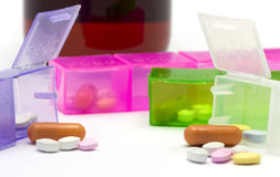 Medicines out of a box Royalty Free Stock Image