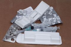 Medicines pile Royalty Free Stock Images