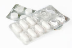 Medicines Pills over white Royalty Free Stock Images