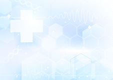 Medicines and science concept. Abstract futuristic background Royalty Free Stock Images