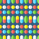 Medicines, seamless pattern. Stock Photo