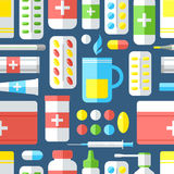 Medicines, seamless pattern. Stock Images