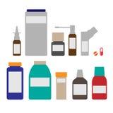 Medicinflaskor Vektor Illustrationer