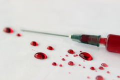 Medicininjektionsspruta Fotografering för Bildbyråer