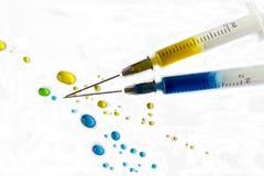 Medicininjektionssprutor Fotografering för Bildbyråer